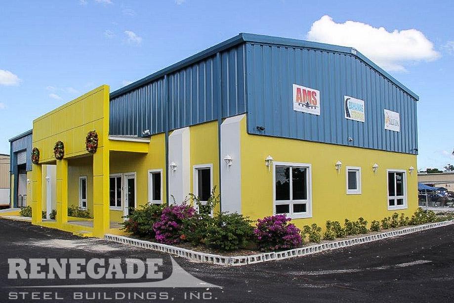 Commercial steel metal building renegade steel buildings for Metal building office plans