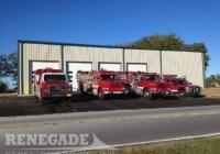 metal building fire & Rescue truck parking garage