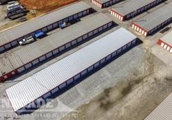 mini self storage steel building with 18 units per side
