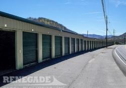 mini self storage steel building with step down