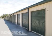 self storage mini steel building, up doors with locking hardware