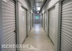 steel metal self storage climate control building inside coridor
