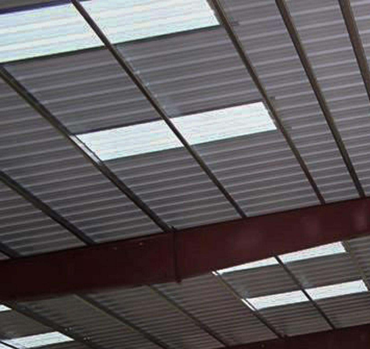 Steel building skylight example