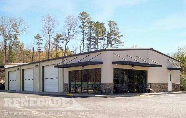 metal building retail auto center