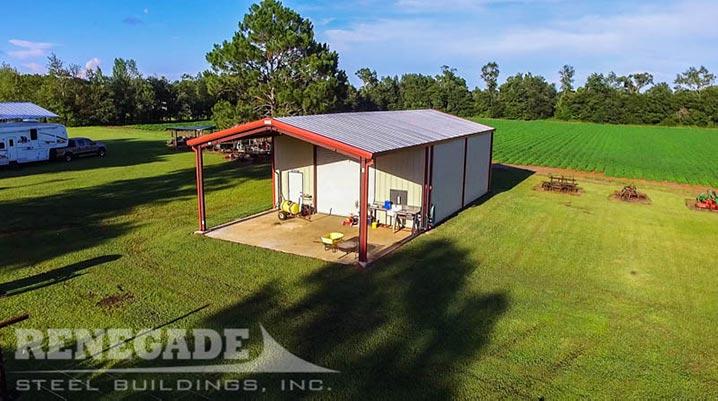 metal building back yard shop