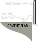 steel building formed base trim