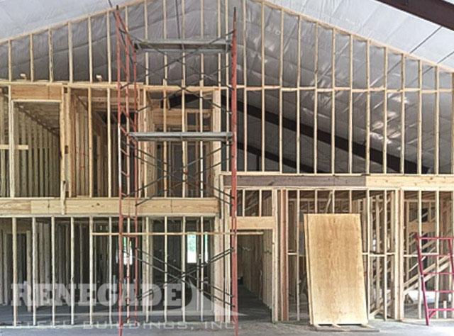 Barndominium steel building home