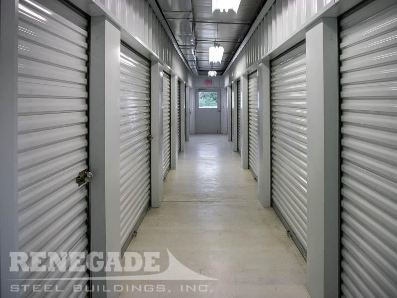 Self Storage Mini Steel Building climate controll interior