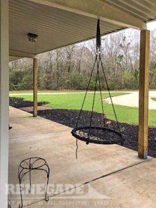 steel building home porch