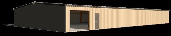 50x100 steel building illustration