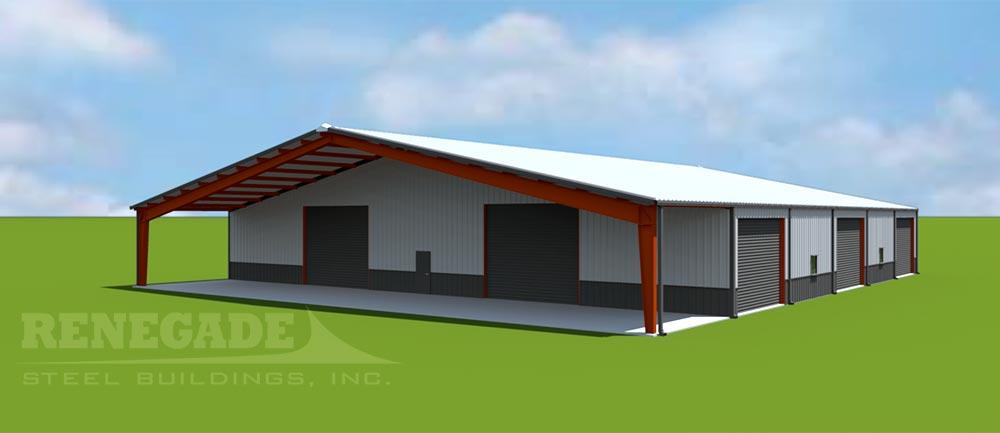 100x120x14 steel building illustration