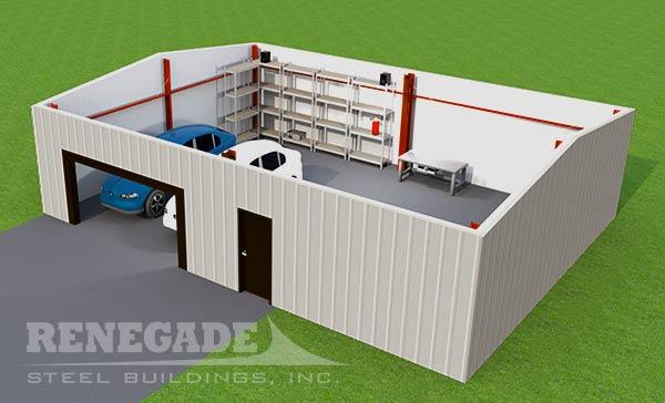 Steel Building Garage illustration