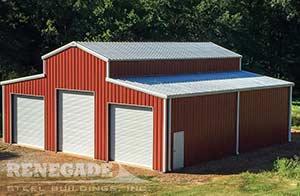 red barn steel building