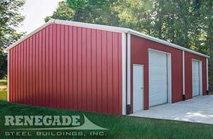 red renegade steel building