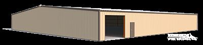 100x100 metal building illustration