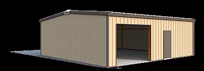30x30x10 steel building illustration