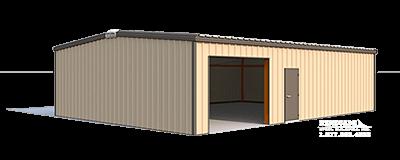 30x40x10 steel building illustration
