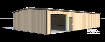 30x50x10 steel building illustration