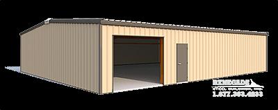 40x50x10 steel building illustration