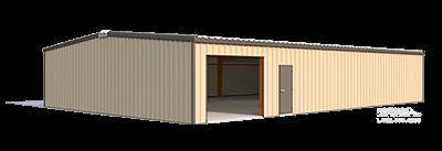 40x60x10 steel building illustration