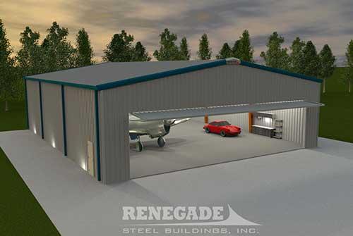 Steel Building Aircraft Hangar Illustration