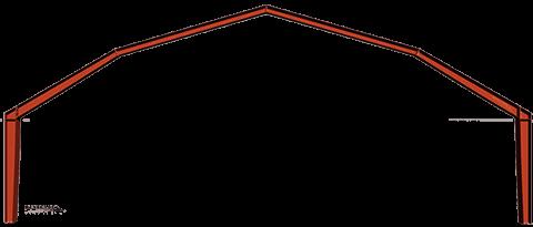 Steel Building Gambrel Roof frame