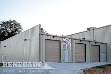 steel building warehouse doors