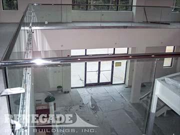 steel building interior second floor