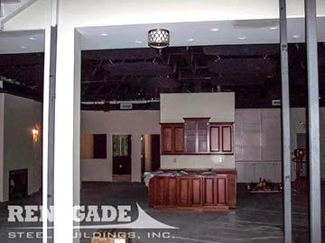 steel building interior buildout