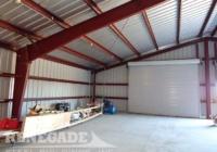 Renegade Steel Building interior with no insulation