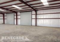 Renegade Steel Building interior with Standard insulation