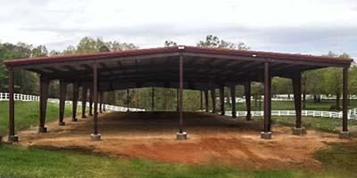 70x200 steel building open riding arena