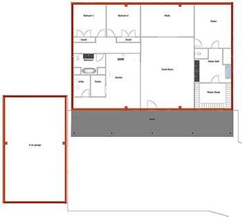Steel Building home floor plan