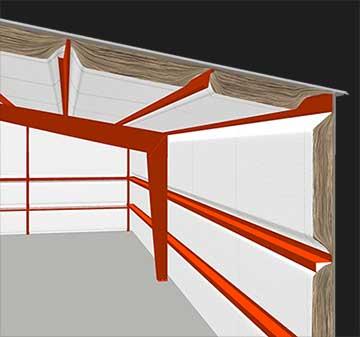 metal building blanket insulation illustration