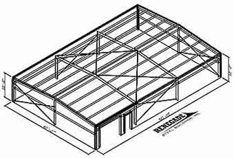 steel building 3d view