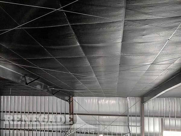 metal building insulation hi r-value with black liner