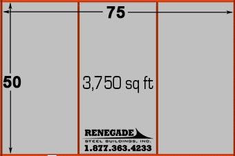 50x75 metal building dimensions
