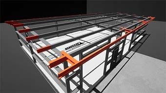 Renegade steel buildings eave extensions closeup illustration