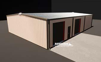 Renegade Steel Building with tan walls