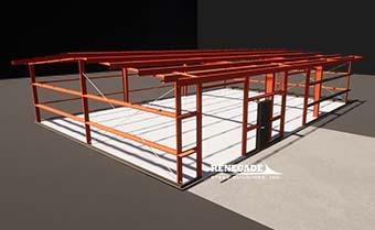 Renegade steel buildings eave extensions illustration