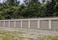 Renegade steel buildings mini warehouse 20x100x9 with tan walls and doors and dark brown trim