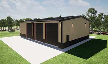 40x60x16 steel building illustration