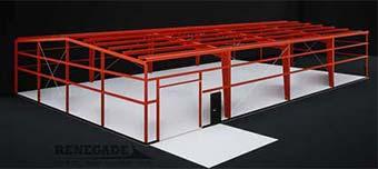 60x100x16 steel building frame illustration