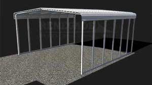 Aluminum frame tube steel building ilustration