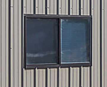 4030, 4x3 steel building horizontal sliding window bronze