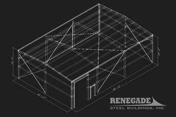 steel building sketch