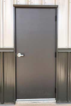 3070 renegade steel building walk door, man door, bronze