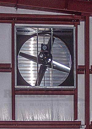 Renegade steel building vent fan